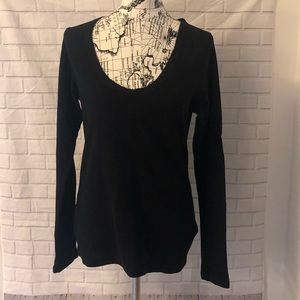 🔴Standard James Perse black waffle knit shirt top